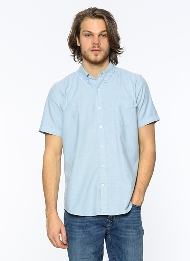 Oxford Yaka Kısa Kollu Gömlek-Timberland